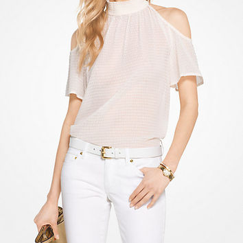 Eyelet Cotton Off-The-Shoulder Top | Michael Kors