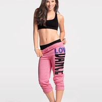 "Free Shipping - Adult And Child ""Love Dance"" Crop Sweat Pants by URBAN DANCEWEAR"