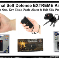 Personal Self Defense EXTREME Safety Kit-Black