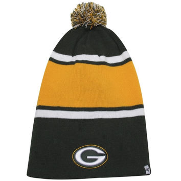 47 Brand Green Bay Packers Dead Ringer Uncuffed Knit Beanie - Green/Gold