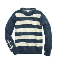 crewcuts Boys Anchor-Sleeve Stripe Sweater