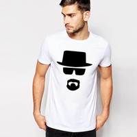 Slim Print T-shirts Casual Korean Glasses [10105692803]