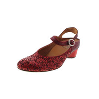 Think! Womens Chiara Leather Floral Print Slingback Sandals