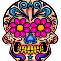 Day of the Dead Decal Rockabilly Rock Vintage Sugar Skull Sticker