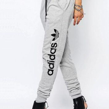 Adidas Women Fashion Print Stretch Trousers Pants Sweatpants