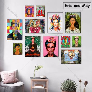 Frida Kahlo Self Portrait Canvas Art Print Painting Poster Wall Pictures For Living Room Decoration Home Decor No Frame