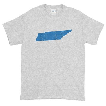 Tennessee Distressed State Shape Short-Sleeve T-Shirt