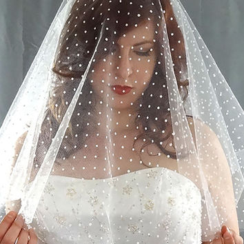 Swiss Dot Drop Veil