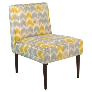 Lucile 3 Button Chair Yellow Accent & from e Kings Lane