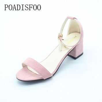 LMFIW1 POADISFOO Summer Women Sandals Open Toe Flip Flops Women's Sandles Thick Heel Women Sh