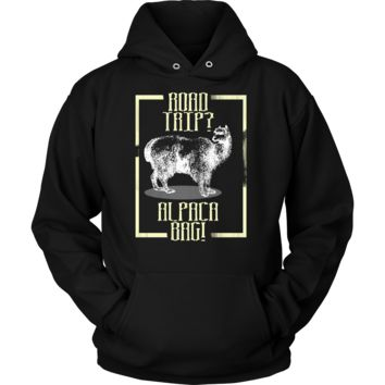 Funny Road Trip Alpaca Bag Alpaca Animal Pet Lover Hoodie