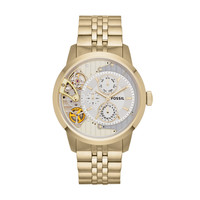 ME1137 - TOWNSMAN MULTIFUNCTION STAINLESS STEEL WATCH – GOLD-TONE