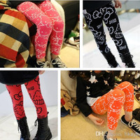 Children Clothes 2014 Children's Leggings Spring Girls Leggings Girls pants trousers.