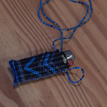 Beaded Lighter holder by DeerMountainCrafts on Etsy