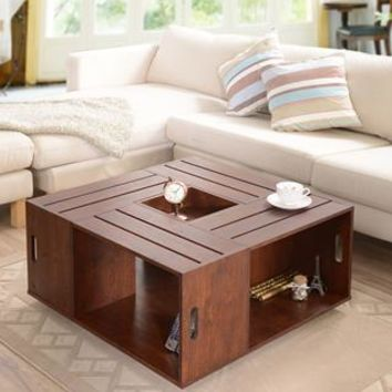 Halinski Modern Coffee Table in Vintage Walnut
