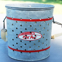 Vintage 1950s Old Pal Wade in Galvanized Minnow Bucket