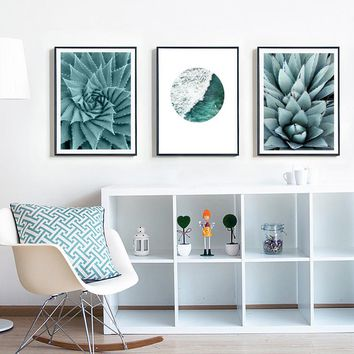 Watercolor Pineapple Plants Canvas Paintings Inspiring Nordic Wall Art Posters Print Picture for Living Room Home Decor unframed