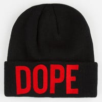 Dope Bold Logo Beanie Black/Red One Size For Men 24641812601