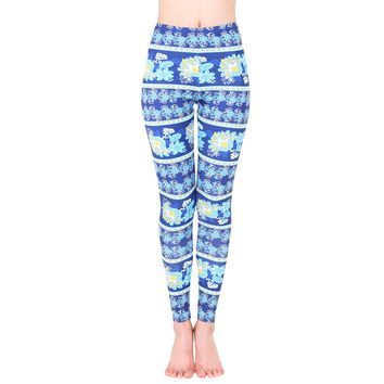 Retro Flower Fitness Leggings