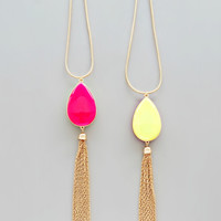 Double Sided Neon Pendant Necklace