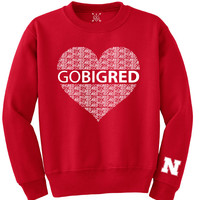 Go Big Red. Huskers Football. Go Big Red. Crewneck Sweatshirt. Unisex