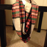 Women's Flannel Plaid Infinity Scarf