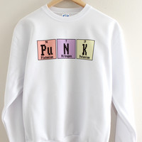 Punk Periodic Table Graphic Crewneck Sweatshirt