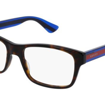 Gucci - GG0006O-007 Avana Blue Eyeglasses / Demo  Lenses
