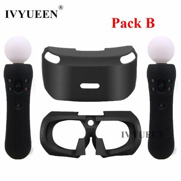 IVYUEEN for PSVR Glass Protective Silicone Skin Case For PlayStation VR Move Motion Controllers Cover for PS VR Headset