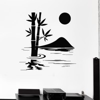 Wall Decal Bamboo Lake Nature Home Decoration Art Room Vinyl Stickers Unique Gift (ig2918)