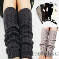 High Quailty Women Crochet Fashion Leg Warmers Legging Winter Knit 5 Colors 3664