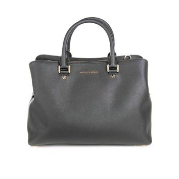 Michael Kors Black Saffiano Savannah Bag