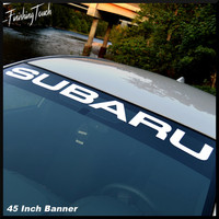 Subaru Decal Windshield Banner Sticker Vinyl Graphic any size or color Subaru Logo emblem
