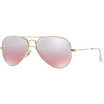 New Ray Ban Sunglasses Outdoor Fashion Aviator RB3025 001/3E Gold Pink Lens