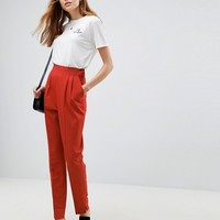 ASOS TALL High Waist Tapered Trousers at asos.com