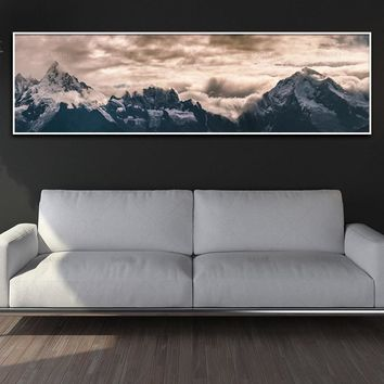 canvas painting Poster wall picture landcape art print mountain and posters picture wall art Painting decoration for living room