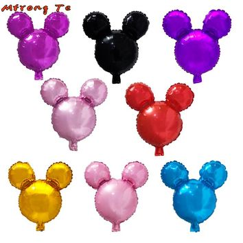 10pcs/lot 18'' mickey Balloon Inflatable Helium Balloon for Mickey Minnie Birthday Party Decoration air Globos Children's day