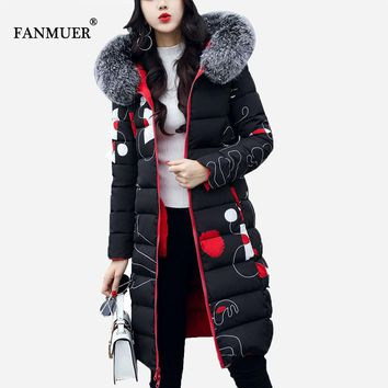 Winter jacket women 2017 New arrival print parka ladies coats winter coat women clothing casacos de inverno feminino coat women