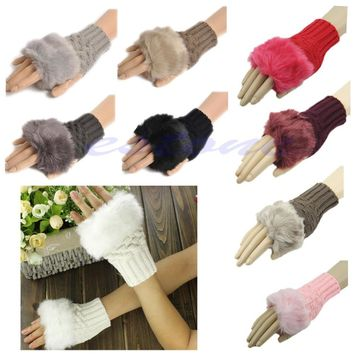 Winter Arm Warmer Fingerless Gloves