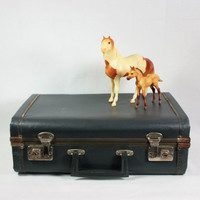 Vintage Small Childs Suitcase Luggage