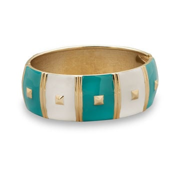 Enamel Square Pattern Fashion Bangle Bracelet