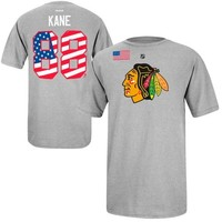 Reebok Patrick Kane Chicago Blackhawks Winter Olympics Country Pride Name & Number T-Shirt - Ash