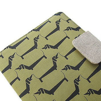 Nook Simple Touch Cover Kindle Fire Cover iPad Mini Cover Kobo Cover Case Dachshund Weiner Wiener Sausage Dog Mid Century Eames Era