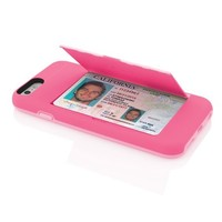 Incipio Stowaway Credit Card Case for iPhone 6 - Pink / Light Pink