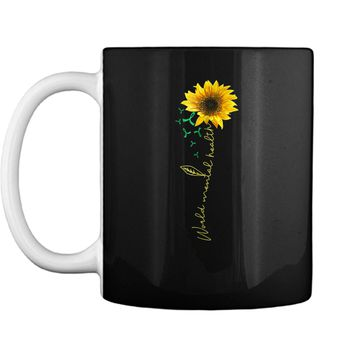 mental health  with sunflowers-mental health awareness Mug