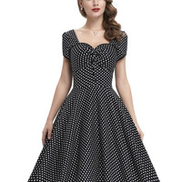 Belle Poque Womens Summer Dresses 2017 Summer Retro 1950s 60s Polka Dot Pinup Party Dresses Robe Vintage Swing Rockabilly Tunic