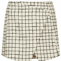 TALL Exclusive Window Pane Check Skort - Monochrome