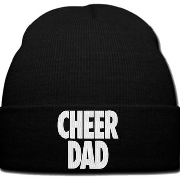 CHEER DAD beanie knit hat