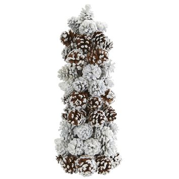 Artificial Tree -Frosted Pine Cone Christmas Tree