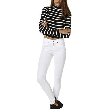 DR DENIM LEXY HIGH WAIST JEAN - WHITE